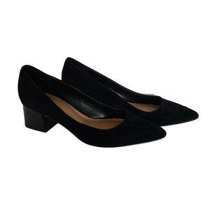 ALDO Black Suede & Patent Kitten Heel Pumps 7.5